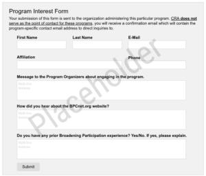 Logo of organization providing: Interest_Form